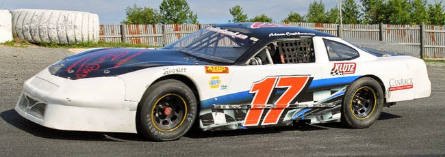 image Adam Cutherbertson Omemee- Winningest Ontario Legend Series Driver show race car with number 17