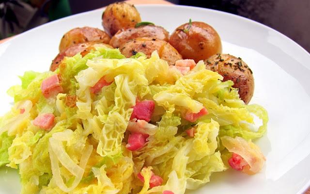 Pressure Cooker Braised Cabbage