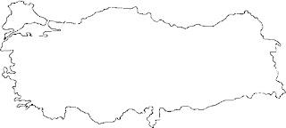 Dilsiz Türkiye  Haritası