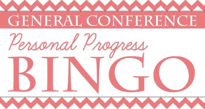 General Conference Personal Progress BINGO