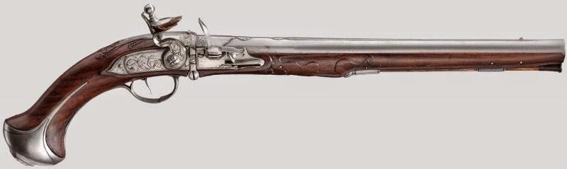 Guns - Казнозарядный кремневый пистолет начала 18 века, история оружия, оружие, пистолет, красивое оружие, красивый пистолет, фото оружия, фото средневекового оружия