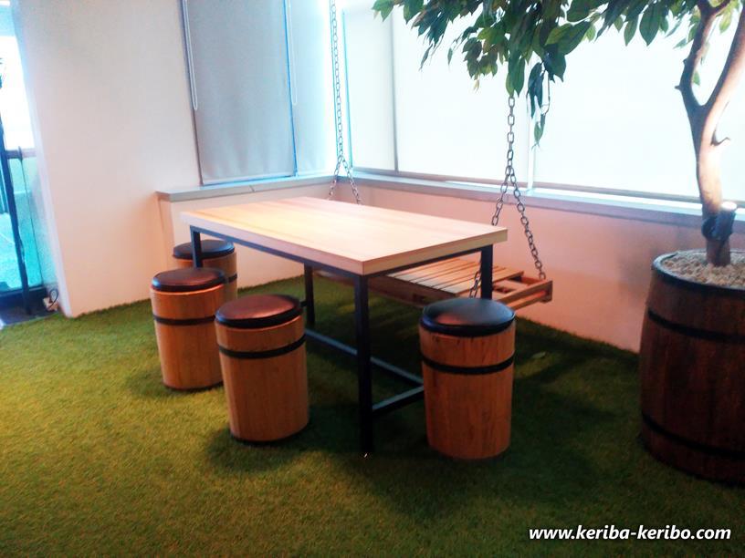 salah satu spot menarik di kantor baru bukalapak kemang