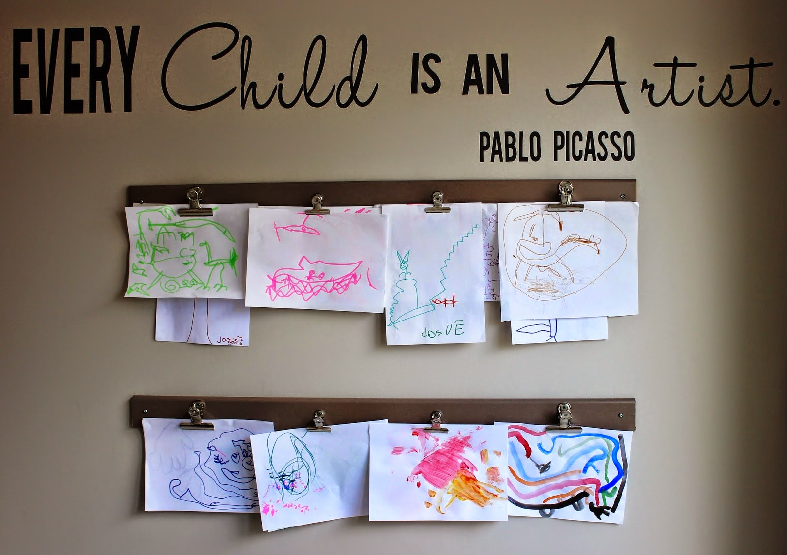 kids art display diy