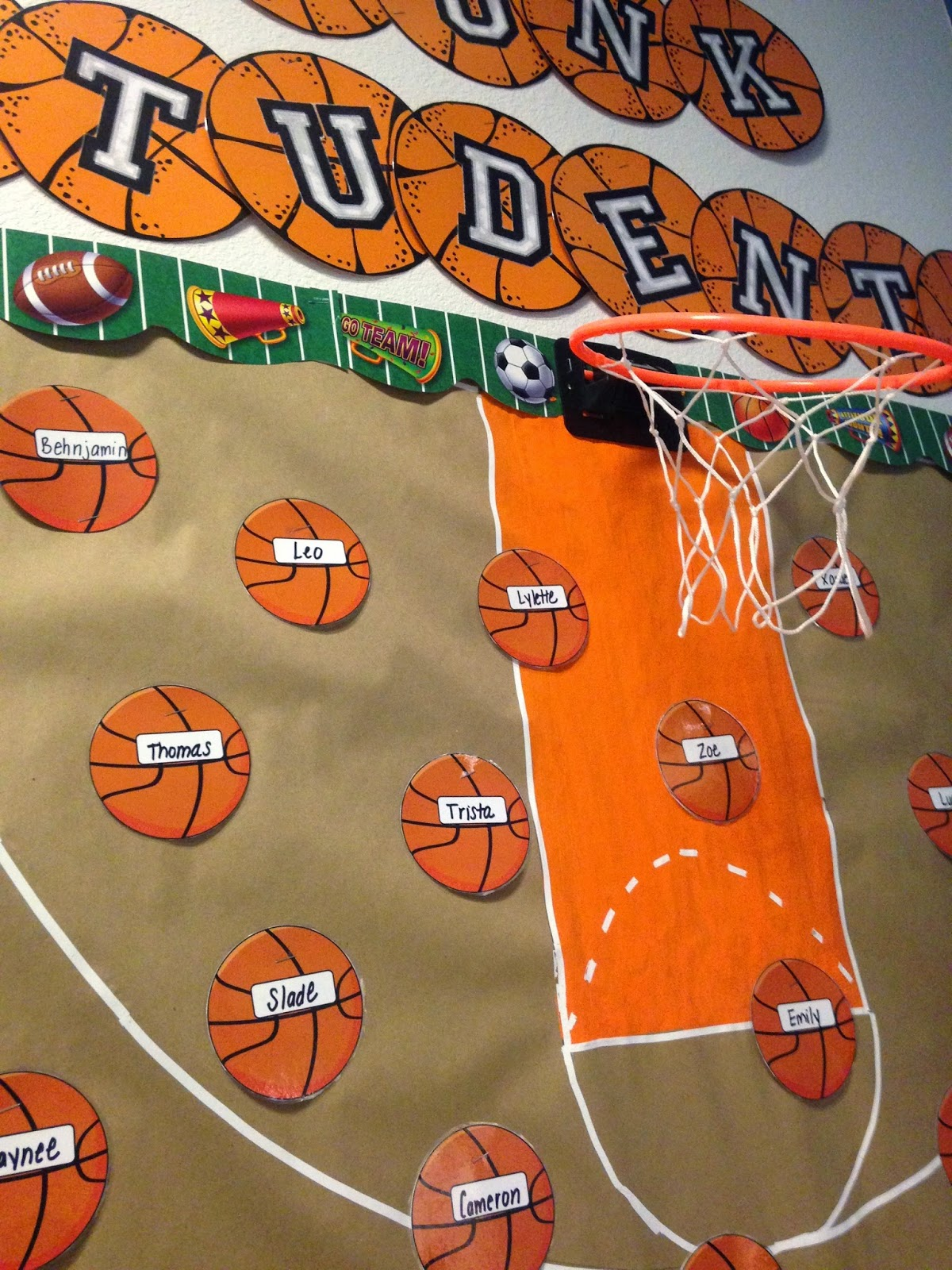 Sports Themed Classroom Decorating Ideas Part - 18: Lots Of People Ask Me About The Letters That I Use On All Of My Bulletin  Boards. I Actually Printed Out Varsity Style Letters That I Had From An Old  Dig ...