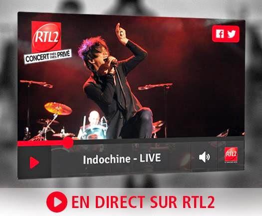 Indochine - concierto très très privé en RTL2 (audio)