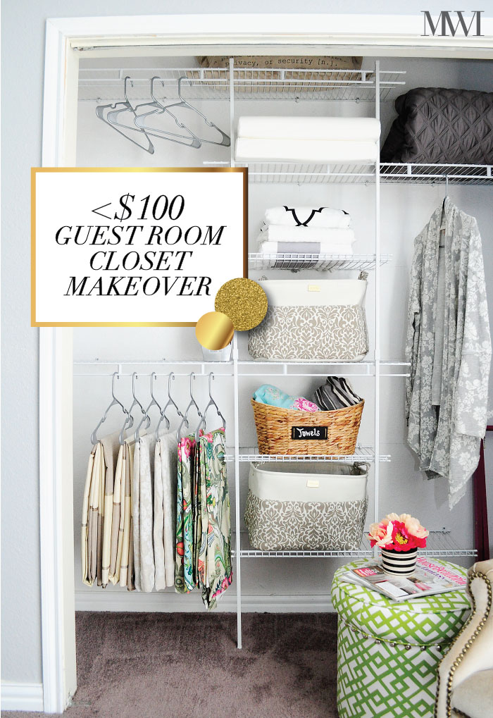 DIY Guest Room Closet Makeover
