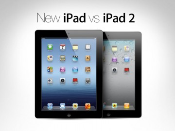 New apple ipad Versus apple ipad two