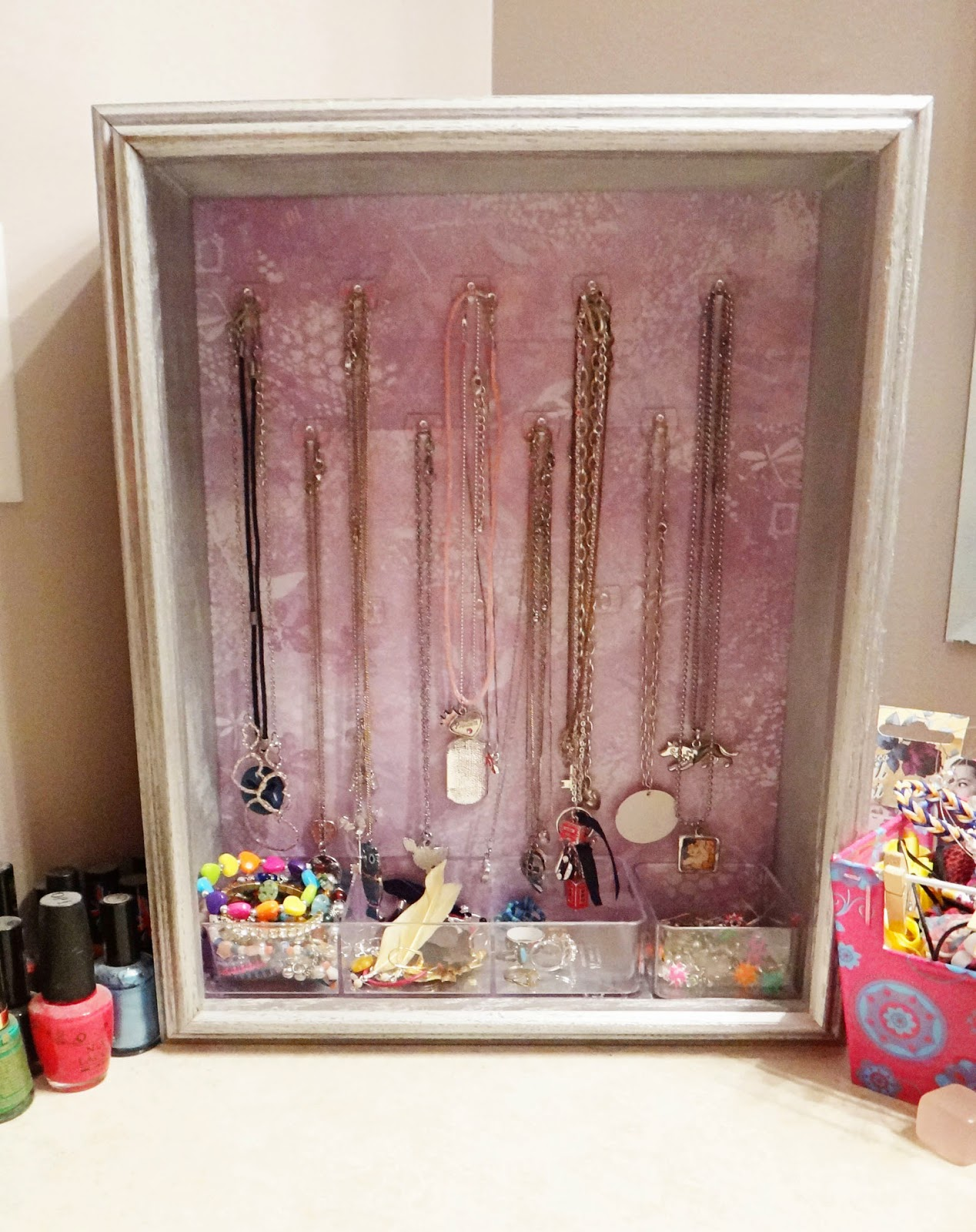 jewelry holder, DIY, Shadowbox