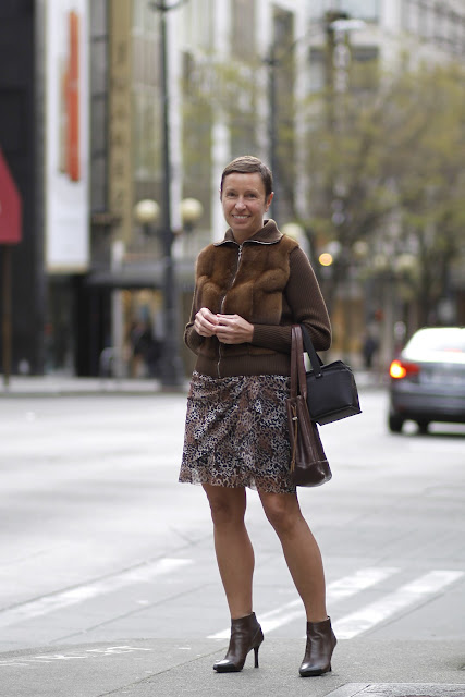 Mila Chistoserdova Leopard skirt seattle street style fashion it's my darlin'