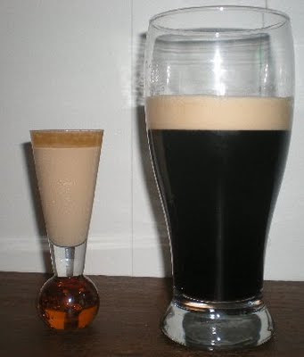 shot glass, Irish Cream, Irish Mist, stout, pint, Guinness, Irish Car Bomb