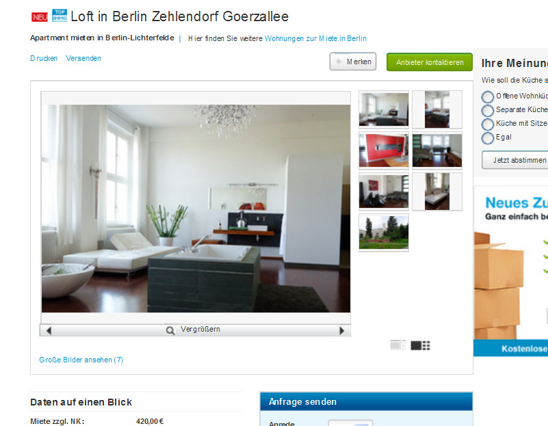 loft in berlin zehlendorf goerzallee billy wilder. Black Bedroom Furniture Sets. Home Design Ideas