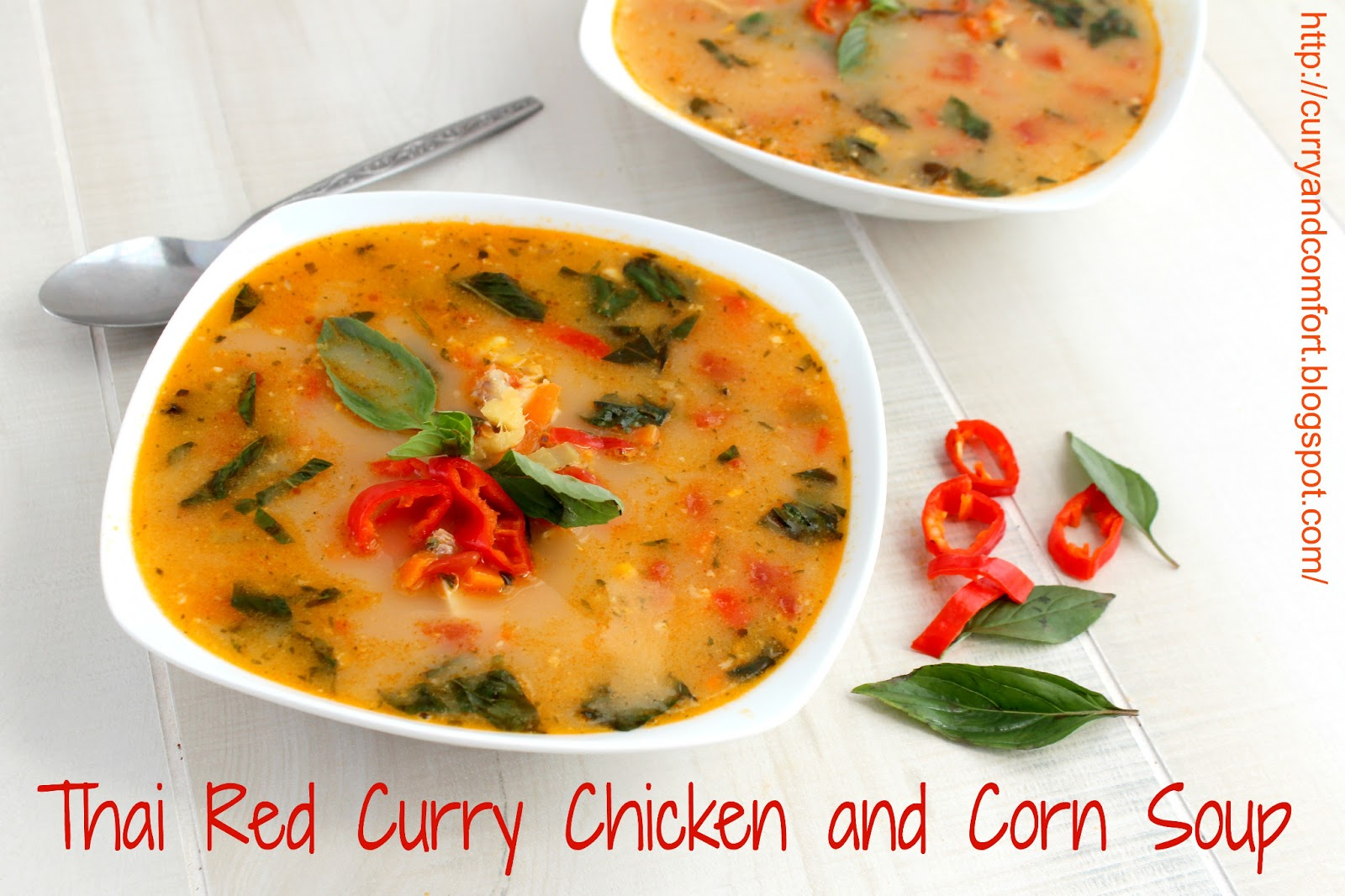 Curry and Comfort: Thai Red Curry Chicken and Corn Soup