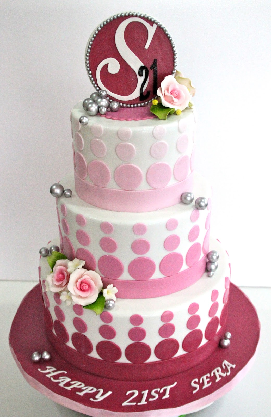 21st Birthday Cake Design For Her : Celebrate with Cake!: Pink 21st Birthday Cake