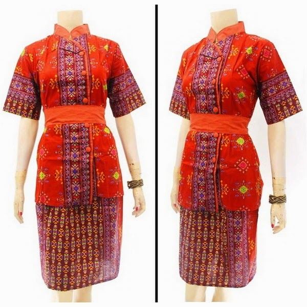 DB3804 Model Baju Dress Batik Modern Terbaru 2014