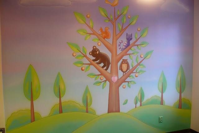Malowanie pokoju dziewczynki, Toruń malarstwo ścienne