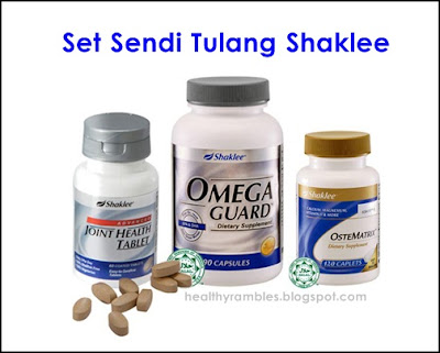 Set Sendi Tulang Shaklee - Advanced Joint Health Tablet (AJHT),  Omega Guard, dan OsteMatrix