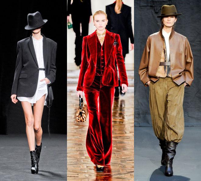 Одежда в мужском стиле-один из главных трендов осени