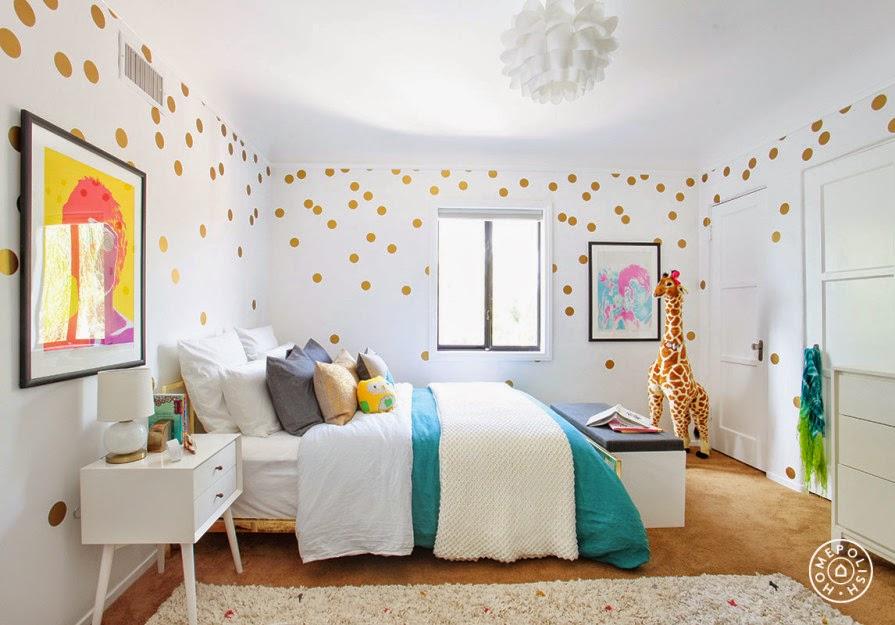 alegre y original habitacion infantil interiores por