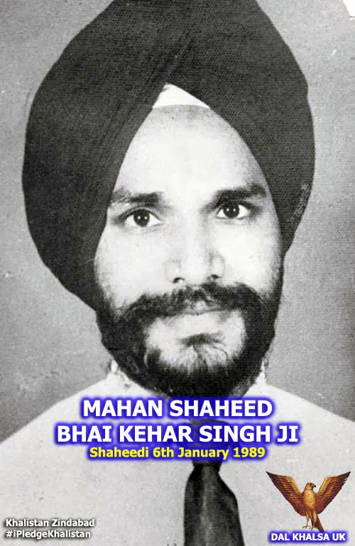... MAHAN SHAHEED BHAI KEHAR SINGH JI WHO WERE HANGED TODAY 25 YEARS AGO BY HINDUTVA INDIA FOR ELIMINATING THE TYRANT INDIRA GANDHI FOR HER GENOCIDE ON THE ... - Shaheed%2BBhai%2BKehar%2BSingh%2BJi%2BDal%2BKhalsa%2BUK