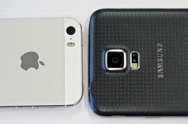 Compare Phones Samsung Galaxy S5 And IPhone 5S 6