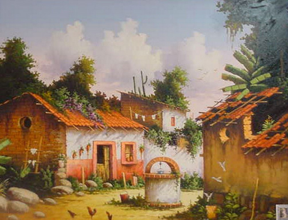 Im genes arte pinturas paisajes mexicanos para pintar - Paisajes de casas ...