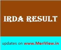 IRDA Assistant Result Merit list Selection