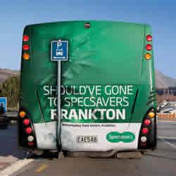 City bus advertising