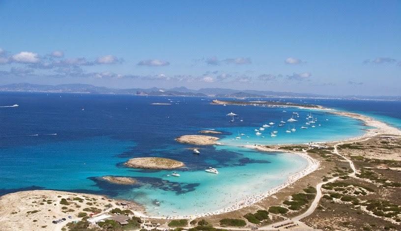 Panorámica de la costa de Formentera, Islas Baleares