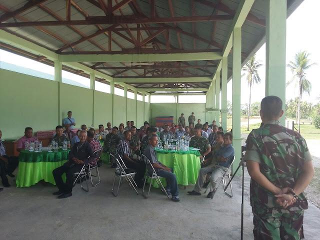 Danyonif 734/SNS Tatap Muka Dengan 45 orang Desa Binaan