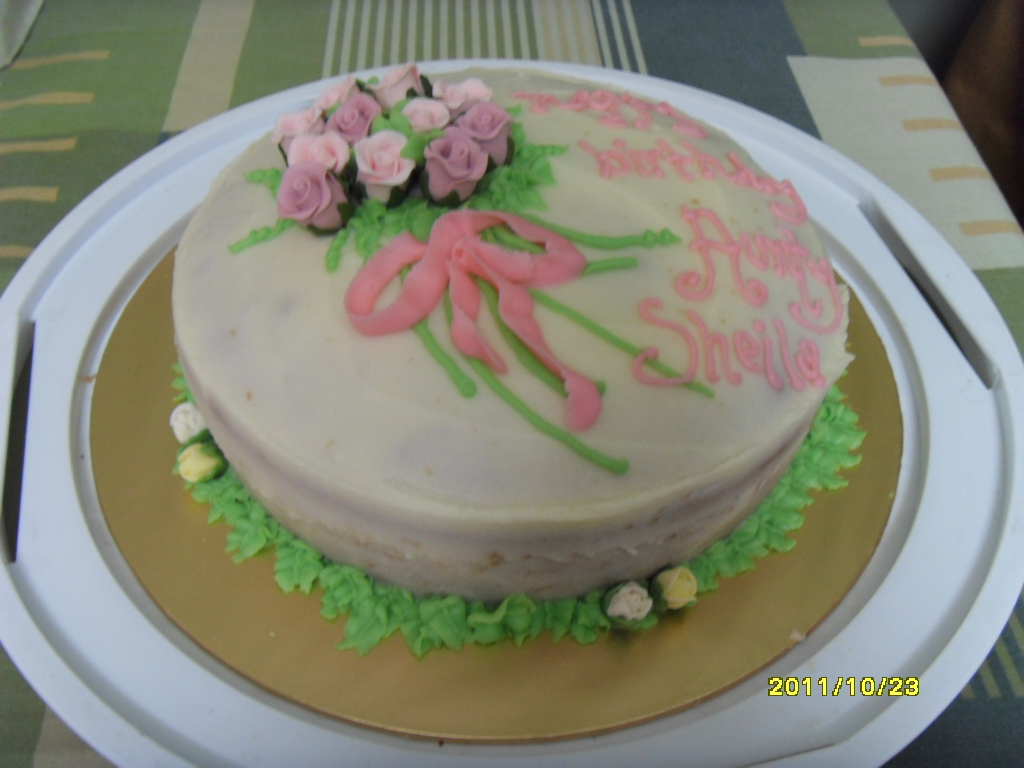 Simple Flower Bouquet Cake I-Bake4U - Customized. Home ...