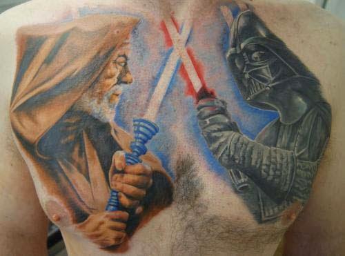 vader obi wan chest tattoo