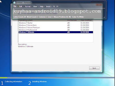 CREATE INSTALL WINDOWS 7 ALL IN ONE