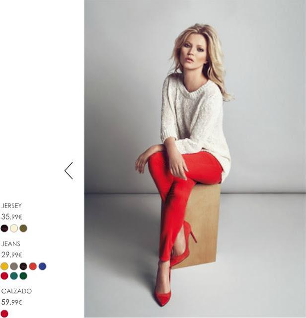 Kate Moss pantalón rojo Mango