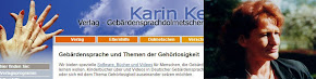 Karin Kestner: Verlag-Gebärdensprachdolmetscherin-Elternhilfe