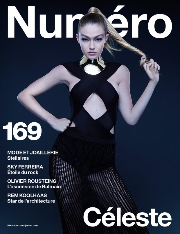 Gigi Hadid wears Balmain for Numero Magazine