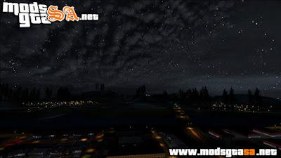 Céu, Estrelas e Nuvens Realista V2