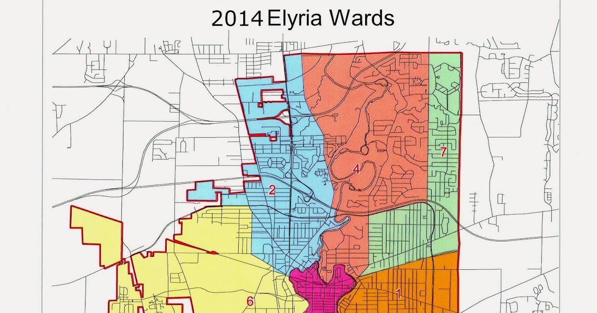 Elyria Ohio 4th Ward Information Web Site Updated Ward Boundaries