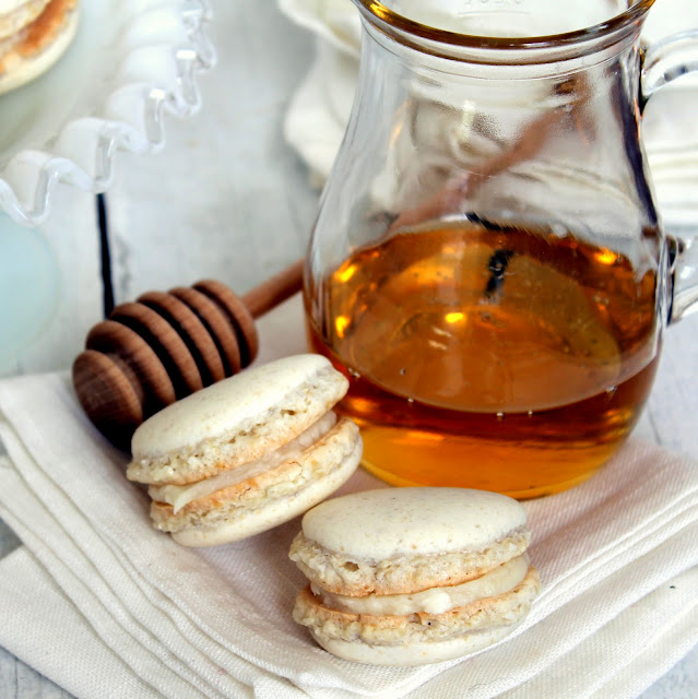 Honey Macarons recipe from cherryteacakes.com