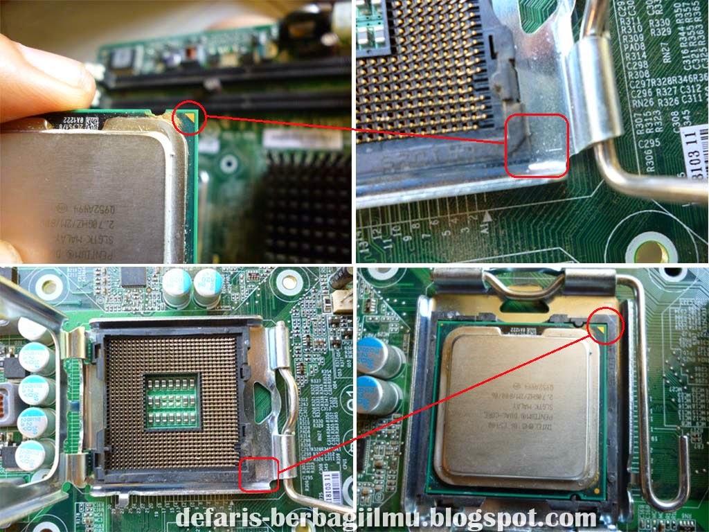 Pemasangan Prosesor Intel ke Mainboard LGA 775