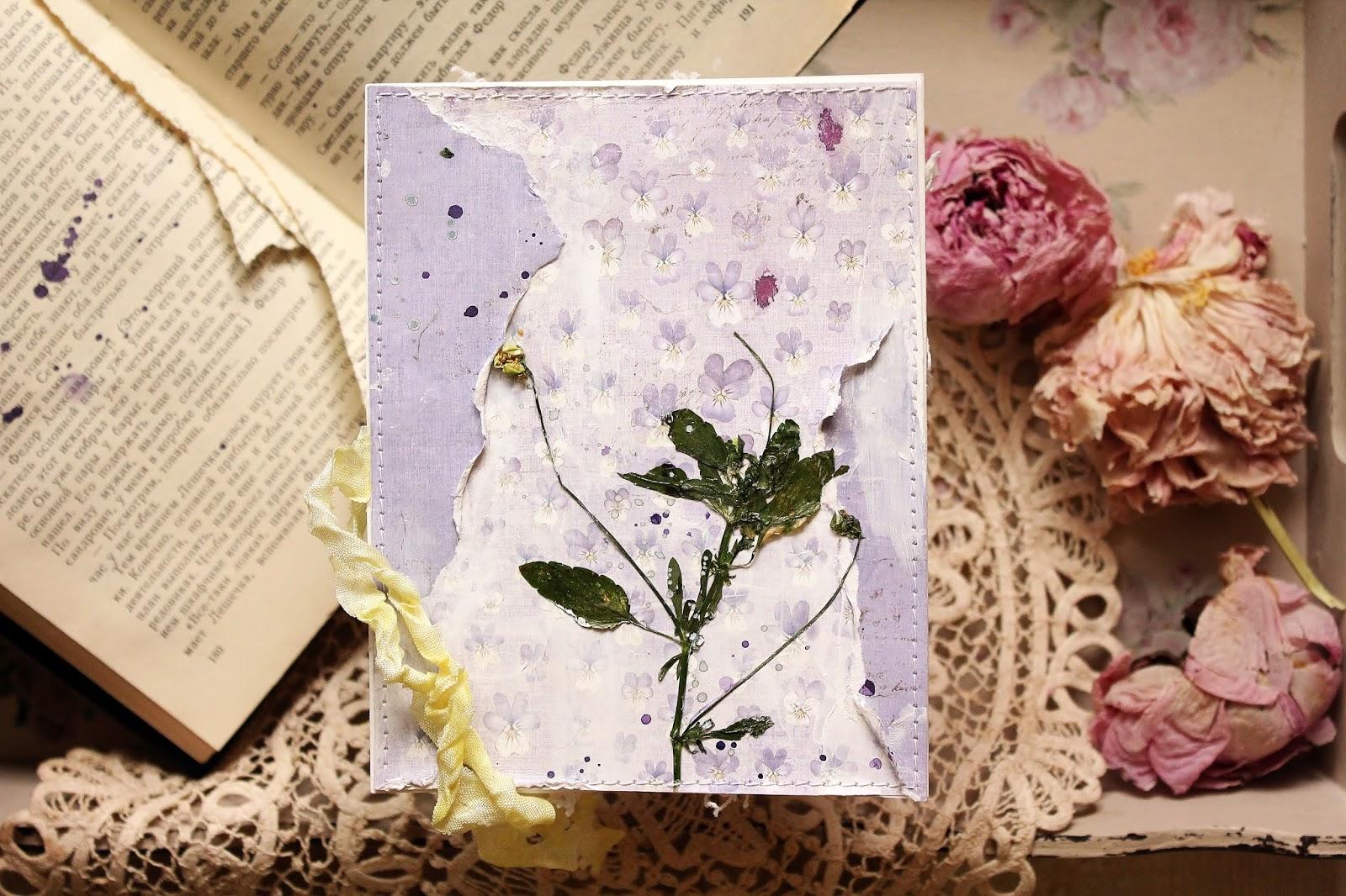 Открытки с сухими цветами 83