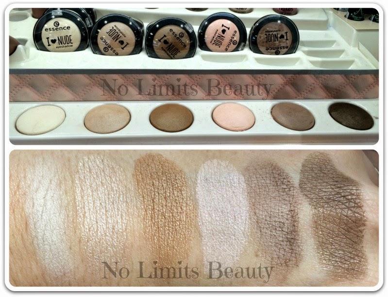 I Love Nude de Essence - Eyeshadows - Swatches