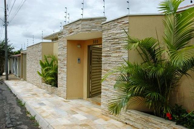 ideias jardins moradias : ideias jardins moradias:Calçadas residenciais – veja dicas e modelos com pedras, paisagismo e