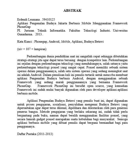 Bahasa Indonesia 1 8 Abstrak Dan Daftar Pustaka