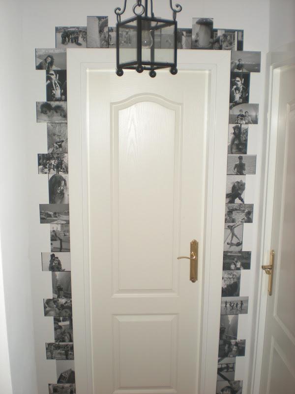 Andra de blanco diy decora el marco de una puerta for Puerta 8 san marcos