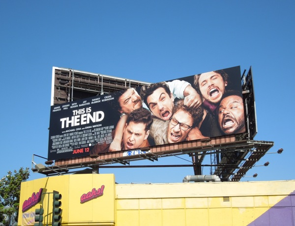 This Is The End film billboard