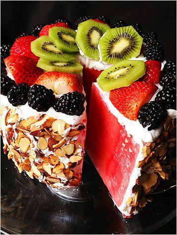 Watermelon Cake - Rebel66 Blog