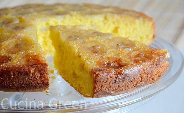 torta rovesciata banane ricetta veloce