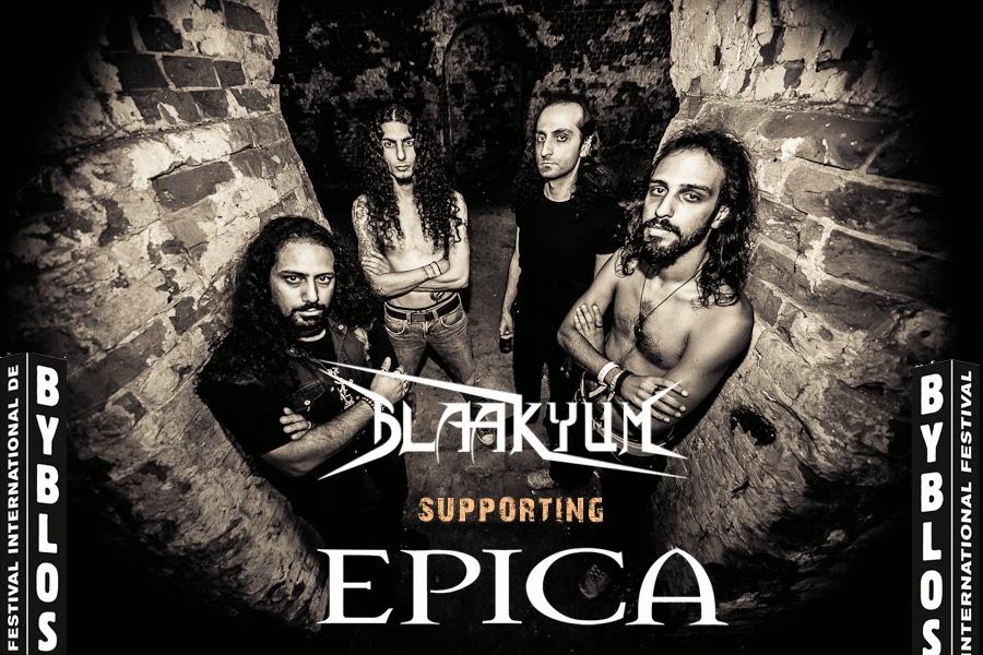 BLAAKYUM: Blaakyum supporting Epica in Byblos International ...