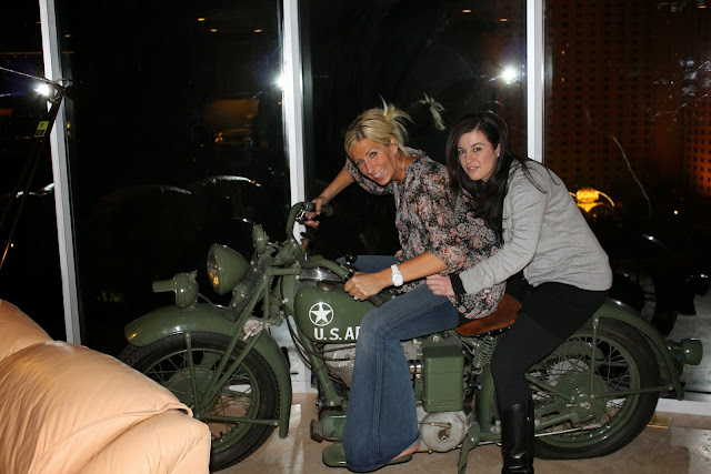 Katie and Leyla take the Harley for a ride in Vegas