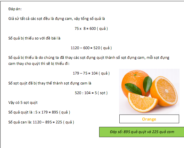 Phương pháp giả thiết tạm - toán lớp 5 nâng cao